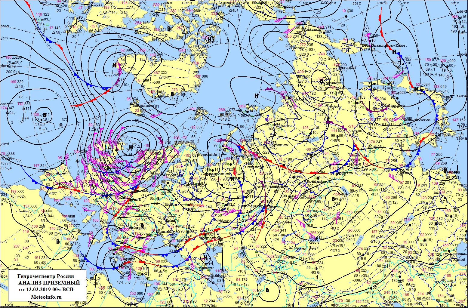 карта погоды в реальном времени